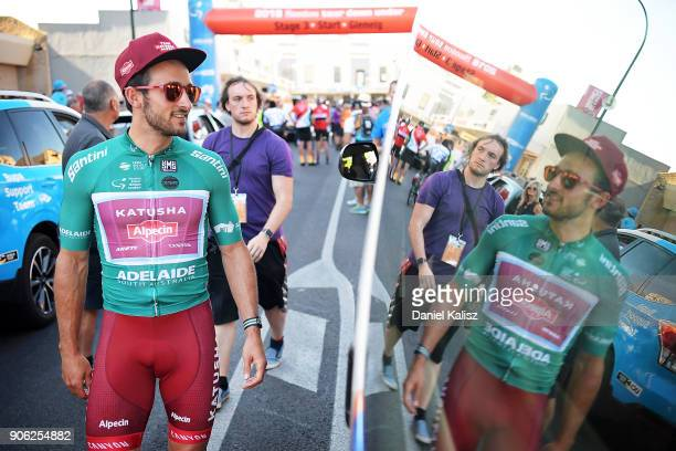 Nathan Haas of Australia and Team Katusha Alpecin looks on prior to stage three of the 2018 Tour Down Under on January 18 2018 in Adelaide Australia