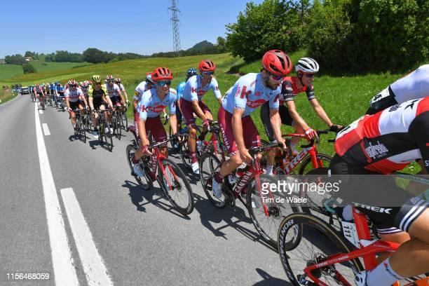 Nathan Haas of Australia and Team Katusha Alpecin / Matteo Fabbro of Italy and Team Katusha Alpecin / Reto Hollenstein of Switzerland and Team...