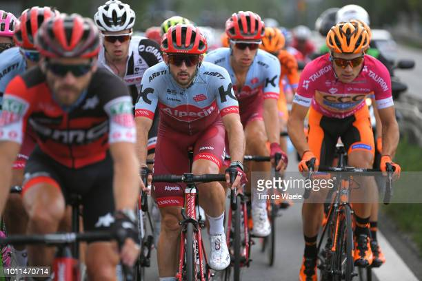 Nathan Haas of Australia and Team Katusha Alpecin / Michal Paluta of Poland and Team Ccc Sprandi Polkowice Pink Mountain Jersey / during the 75th...
