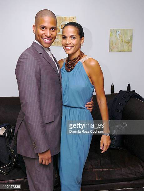 Nathan Hale Williams and Crystal McCrary Anthony during Dirty Laundry Screening at the Soho House June 8 2006 at Soho House in New York City New York...