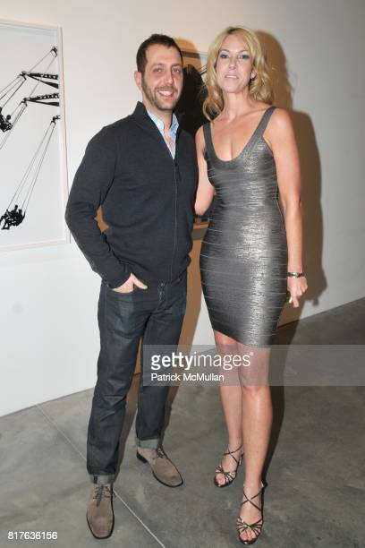 Nathan Harger and Sarah Hasted attend Artist's Reception with NATHAN HARGER at Hasted Kraeutler on December 9th 2010 in New York City