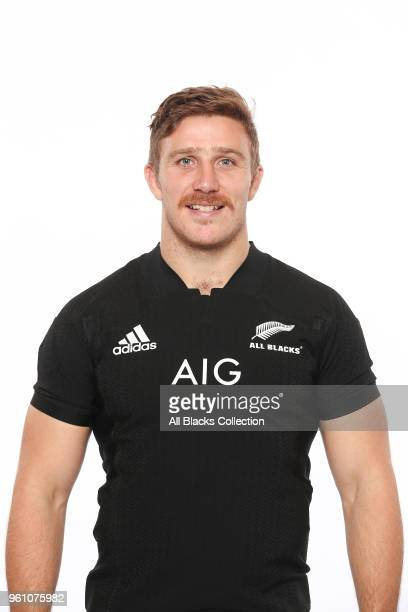 Nathan Harris poses during a New Zealand All Blacks headshots session on May 21 2018 in Auckland New Zealand