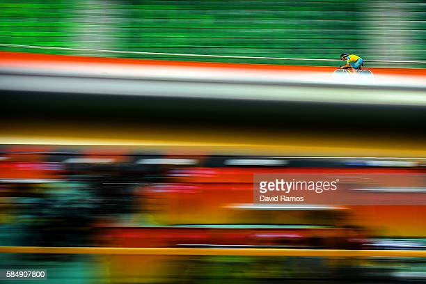 Nathan Hart of Australia practices during a track cycling training session at the Rio Olympic Velodrome on July 31 2016 in Rio de Janeiro Brazil