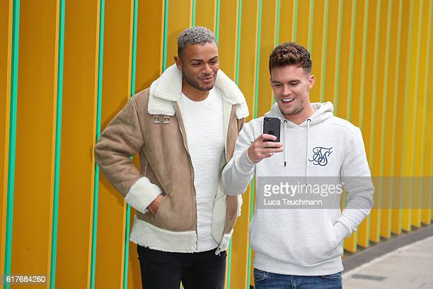 Nathan Henry and Gary Beadle arrive Geordie Shore cast launch Series 13 at MTV London on October 24 2016 in London England