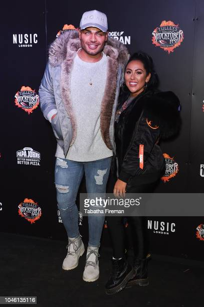 Nathan Henry and Jody Shaw attends the press night for Shocktober Fest at Tulleys Farm on October 5 2018 in Crawley West Sussex