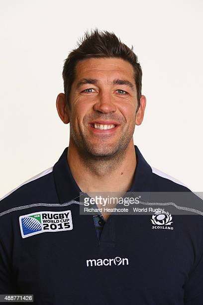 Nathan Hines of Scotland during the Scotland Rugby World Cup 2015 squad photo call at the Hilton Puckrup Hall Hotel on September 17 2015 in...