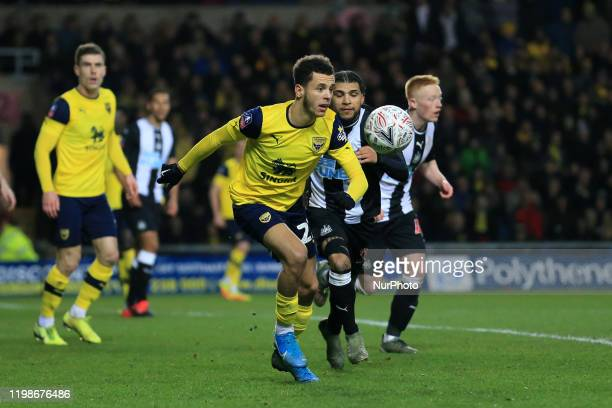 Nathan Holland of Oxford United during the FA Cup Fourth Round replay between Oxford United and Newcastle United at the Kassam Stadium Oxford on...