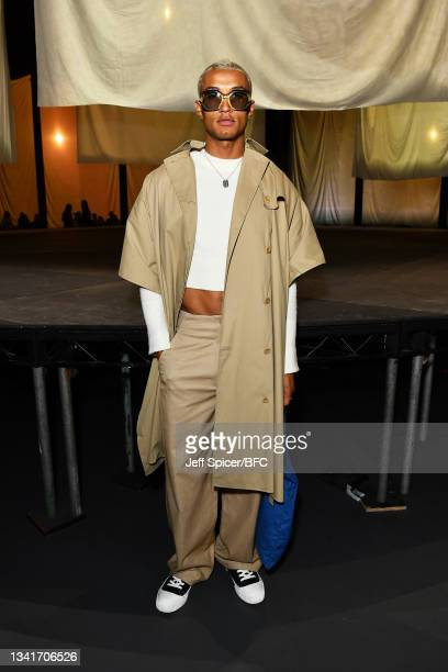 Nathan Hopkinson attends the COS show at The Roundhouse during London Fashion Week September 2021 on September 21, 2021 in London, England.