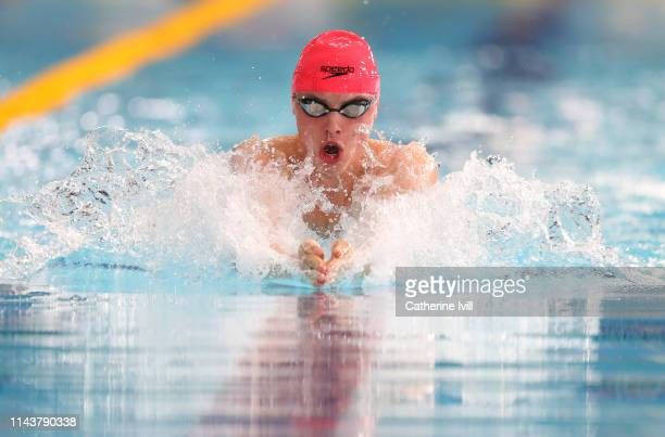 Nathan Hughes competes in the Men's transition Breaststroke final during Day 4 of the British Swimming Championships at Tollcross International...