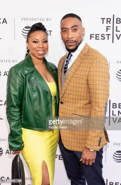 Nathan James with guest attend the Standing Up Falling Down premiere during 2019 Tribeca Film Festival at SVA Theater Manhattan