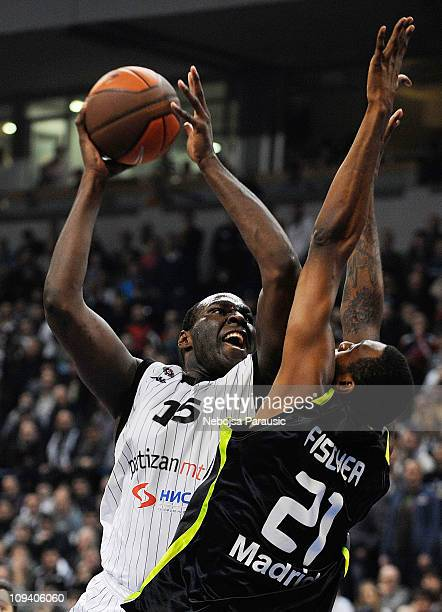 Nathan Jawai #15 of Partizan MTS Belgrade in action during the 20102011 Turkish Airlines Euroleague Top 16 Date 5 game between Partizan mts Belgrade...