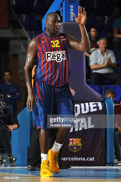 Nathan Jawai #32 of FC Barcelona Regal in action during the 20122013 Turkish Airlines Euroleague Regular Season Game Day 3 between FC Barcelona Regal...