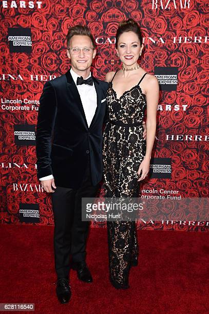 Nathan Johnson and Laura Osnes attend An Evening Honoring Carolina Herrera at Alice Tully Hall at Lincoln Center on December 6 2016 in New York City
