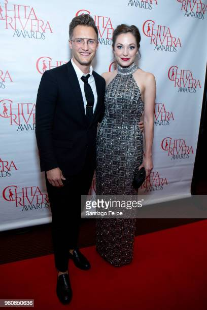 Nathan Johnson and Laura Osnes attend the 2018 Chita Rivera Awards at NYU Skirball Center on May 20 2018 in New York City