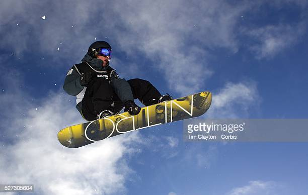 Nathan Johnstone Australia in action during the Women's Half Pipe Qualification in the LG Snowboard FIS World Cup during the Winter Games at Cardrona...