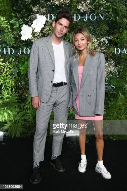 Nathan Jolliffe and Yan Yan Chan attend the David Jones Spring Summer 18 Collections Launch at Fox Studios on August 8 2018 in Sydney Australia