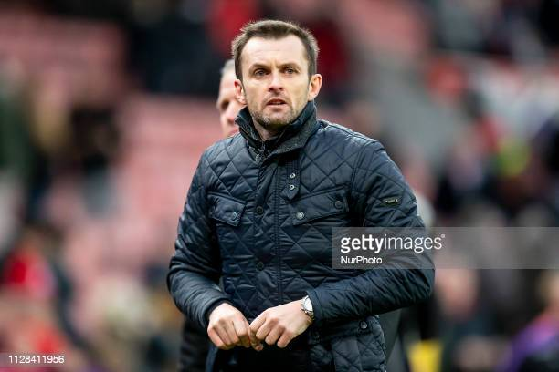 Nathan Jones Manager of Stoke City during the Sky Bet Championship match between Stoke City and Nottingham Forest at the Britannia Stadium...