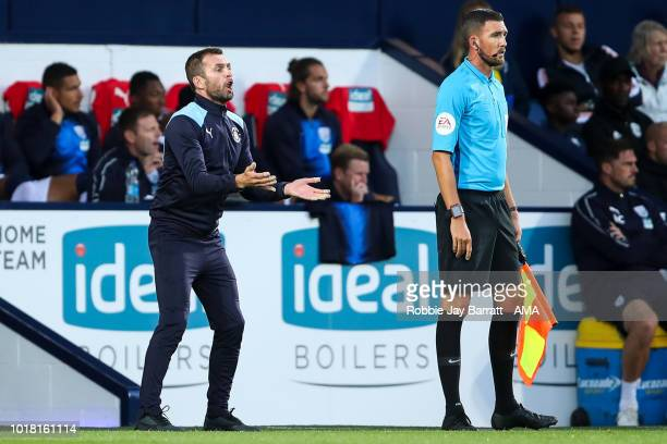 Nathan Jones of Luton Town during the Carabao Cup First Round match between West Bromwich Albion and Luton Town at The Hawthorns on August 14 2018 in...