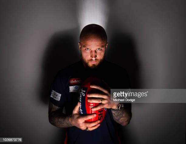 Nathan Jones of the Demons poses during a Melbourne Demons AFL media opportunity at Fox Footy Studios on September 5, 2018 in Melbourne, Australia.