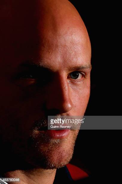 Nathan Jones of the Demons speaks to the media during a Melbourne Demons AFL press conference at AAMI Park on August 18, 2014 in Melbourne, Australia.