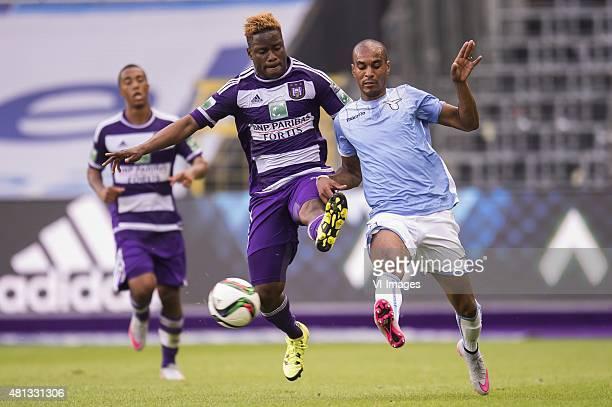 Nathan Kabasele of RSC Anderlecht Abdoulay Konko of SS Lazio Roma during the preseason friendly match between RSC Anderlecht and SS Lazio Roma on...