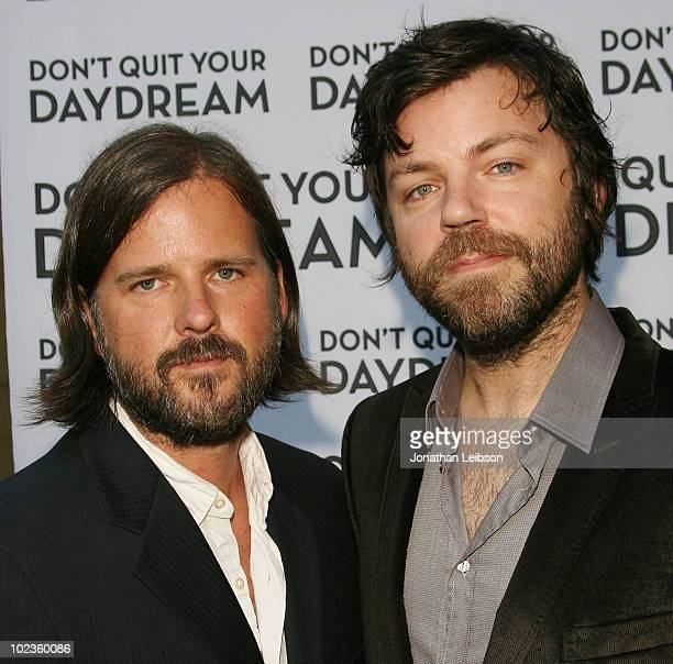 Nathan Khyber and Clark Stiles of 'The Good Listeners' attend the Los Angeles premiere of the music documentary 'Don't Quit Your Daydream' at the...