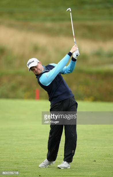 Nathan Kimsey of England in action during day three of the HNA Open de France at Le Golf National on July 1 2017 in Paris France