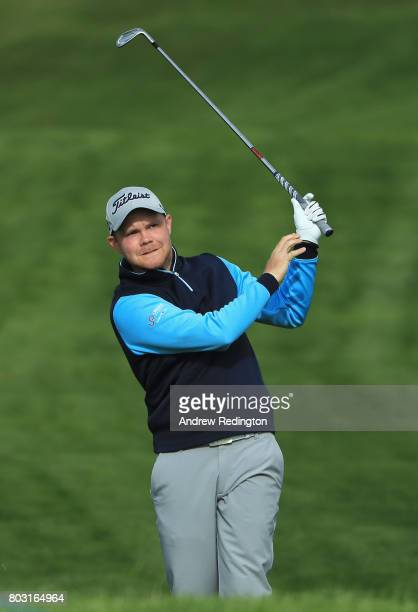 Nathan Kimsey of England plays his second shot on the 10th hole during day one of the HNA Open de France at Le Golf National on June 29 2017 in Paris...