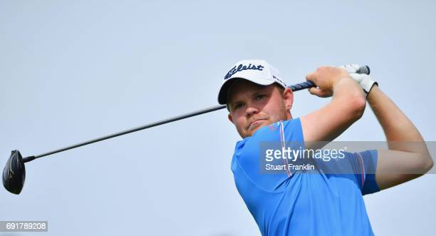 Nathan Kimsey of England tees off during day three of Nordea Masters at Barseback Golf Country Club on June 3 2017 in Barsebackshamn Sweden