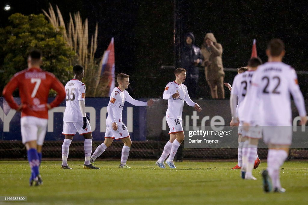 FFA Cup Rd of 32 - Melbourne Knights FC v Adelaide United : News Photo