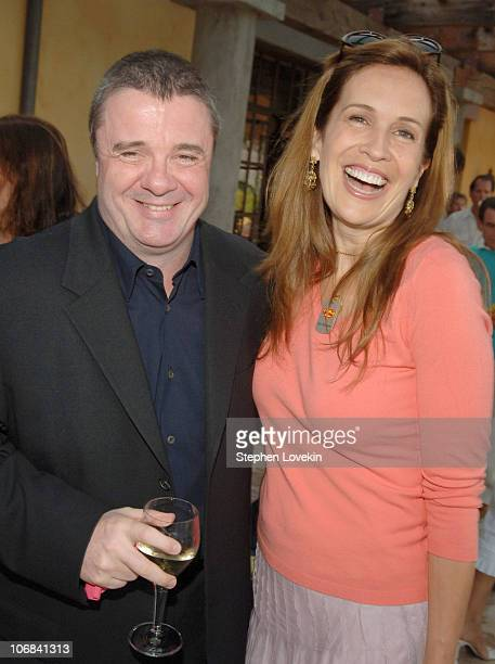 Nathan Lane and Dana Reeve during 2005 Summer Solstice Celebration to Benefit the Christopher Reeve Paralysis Foundation at Wolffer Estate and...