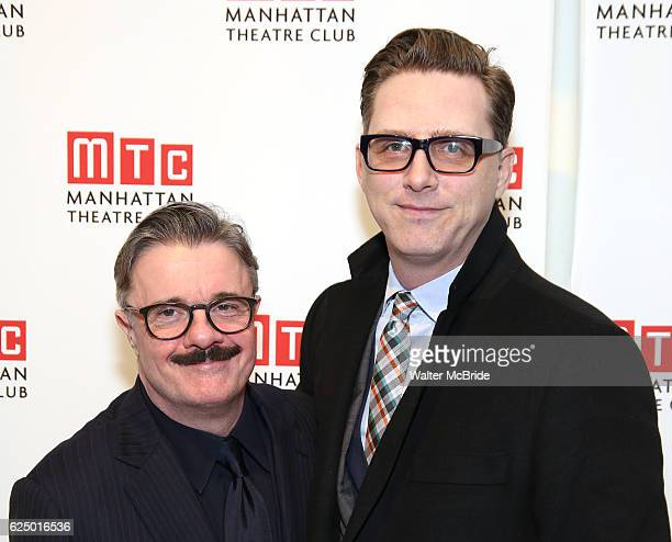 Nathan Lane and Devlin Elliott attend the 2016 Manhattan Theatre Club's Fall Benefit at 583 Park Avenue on November 21 2016 in New York City