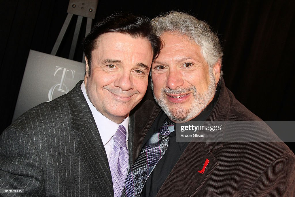 Nathan Lane and Harvey Fierstein attend the 2013 Tony Awards: The Meet The Nominees Press Junket at the Millenium Hilton on May 1, 2013 in New York City.