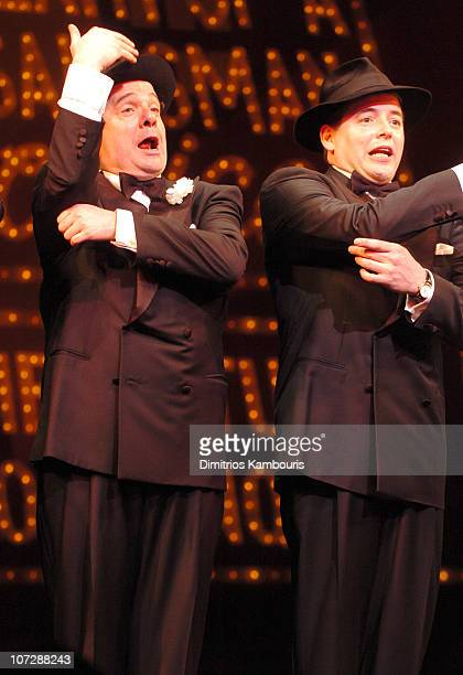 Nathan Lane and Matthew Broderick during Nathan Lane and Matthew Broderick Reprise Their Roles in The Producers Curtain Call December 30 2003 at St...