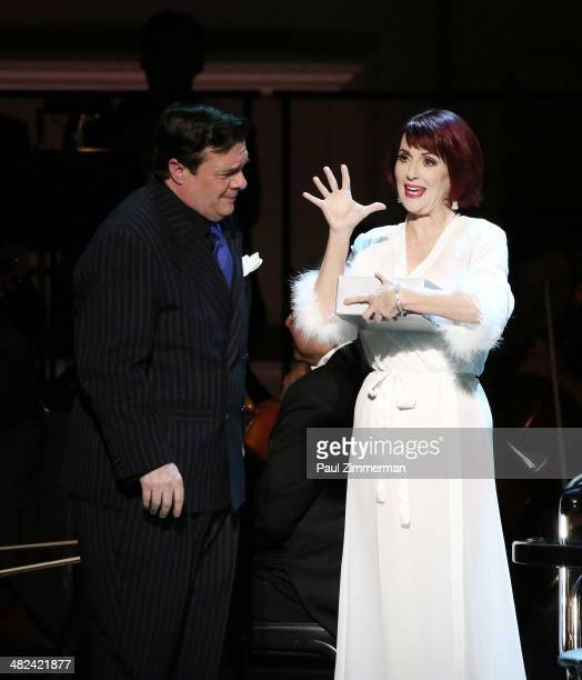 Nathan Lane and Megan Mullally perform Guys And Dollsat Carnegie Hall on April 3 2014 in New York City