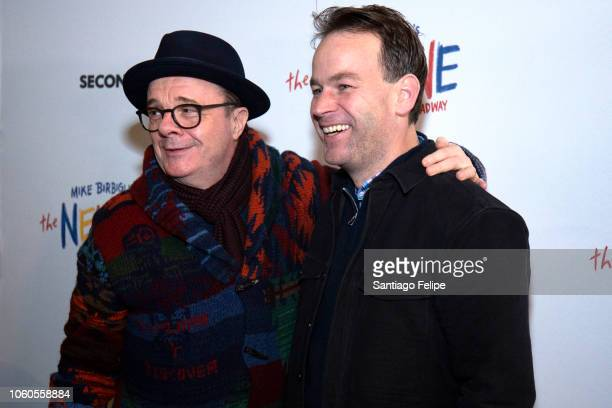Nathan Lane and Mike Birbiglia attend The New One Broadway Opening Night at Cort Theatre on November 11 2018 in New York City