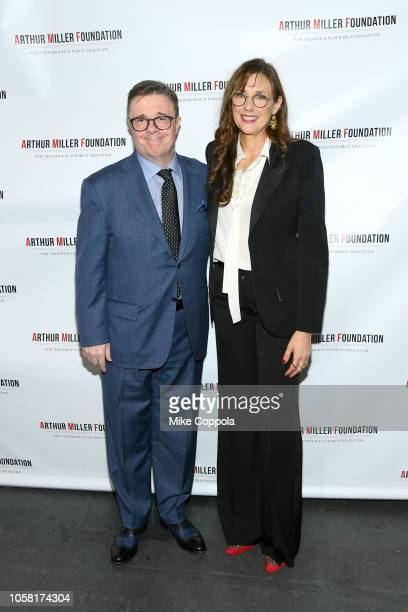 Nathan Lane and Rebecca Miller attend the 2018 Arthur Miller Foundation Honors at City Winery on October 22 2018 in New York City