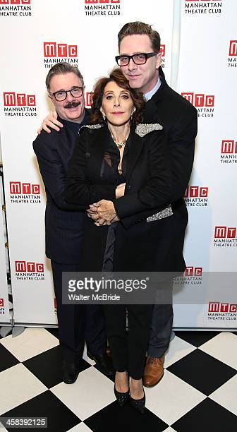 Nathan Lane Andrea Martin and Devlin Elliott attend the 2016 Manhattan Theatre Club's Fall Benefit at 583 Park Avenue on November 21 2016 in New York...