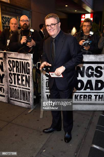 Nathan Lane attends Springsteen On Broadway at Walter Kerr Theatre on October 12 2017 in New York City