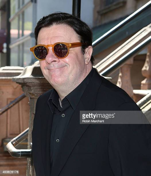 """Nathan Lane attends the """"It's Only A Play"""" Cast Photocall at Joe Allen Restaurant on August 19, 2014 in New York City."""