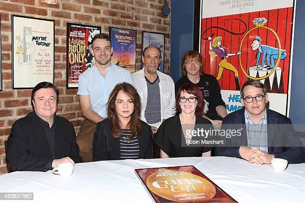 "Nathan Lane, Micah Stock, Stockard Channing, F. Murray Abraham, Megan Mullally, Rupert Grint and Matthew Broderick attend the ""It's Only A Play"" Cast..."