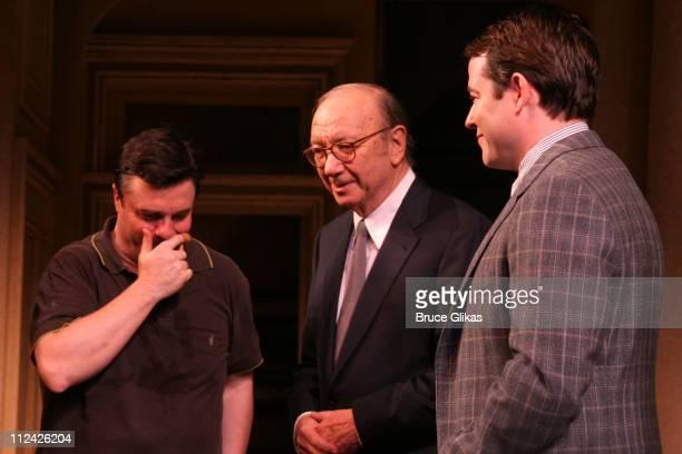 Nathan Lane Neil Simon and Matthew Broderick take their Curtain Call