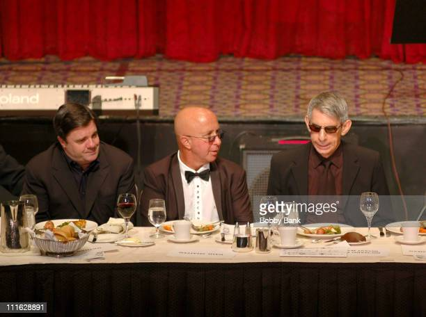 Nathan Lane Paul Shaffer and Richard Belzer during Friars Club Roast Of Jerry Lewis June 9 2006 at New York Hilton in New York New York United States