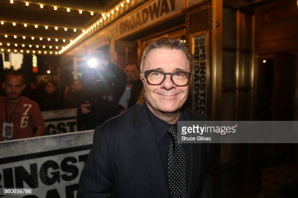 Nathan Lane poses at the opening night arrivals for Springsteen on Broadway at The Walter Kerr Theatre on October 12 2017 in New York City