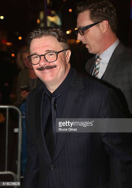 Nathan Lane poses at The Opening Night of The Front Page on Broadway at The Broadhurst Theatre on October 20 2016 in New York City