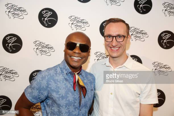 Nathan Lee Graham and Adam Porter Smith pose at the Native Ken Eyewear NYC Launch Party at Native Ken on July 20 2017 in New York City