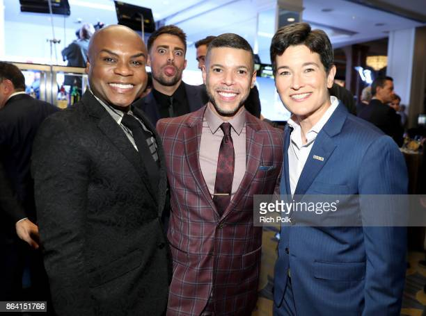 Nathan Lee Graham Wilson Cruz and executive director GLSEN Eliza Byard at the 2017 GLSEN Respect Awards at the Beverly Wilshire Hotel on October 20...