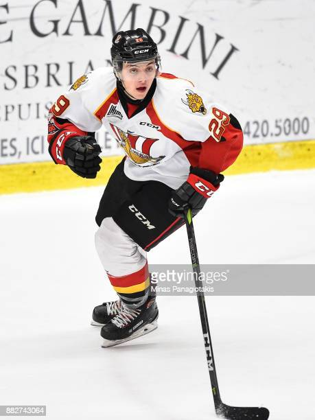 Nathan Legare of the BaieComeau Drakkar skates against the BlainvilleBoisbriand Armada during the QMJHL game at Centre d'Excellence Sports Rousseau...