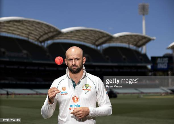 Nathan Lyon of Australia poses before an Australian Nets Session at Adelaide Oval on December 15, 2020 in Adelaide, Australia.