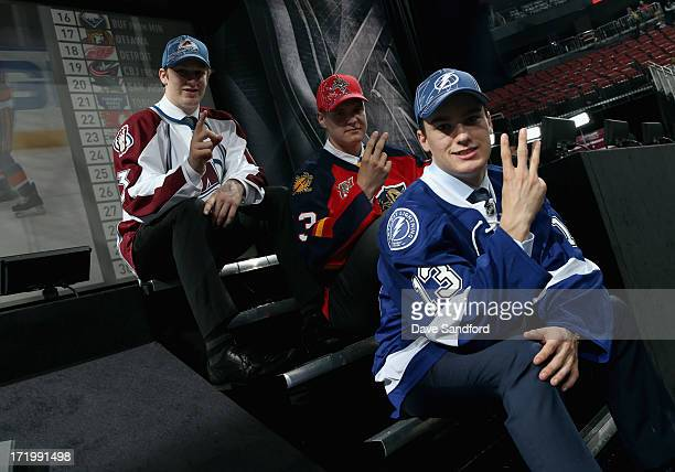 Nathan MacKinnon selected first overall by the Colorado Avalanche, Aleksander Barkov selected second overall by the Florida Panthers and Jonathan...